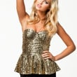 GLOBE TOP - Gold Sequin bandeau top by NLY TREND