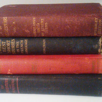 Decorative Antique Books, Robert Browning, Works of Shakespeare Vol. X, Stories of Adventure Herzberg, 12 Best Short Stories in the French L