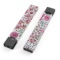 Skin Decal Kit for the Pax JUUL - Floral Pattern on Light Green Watercolor