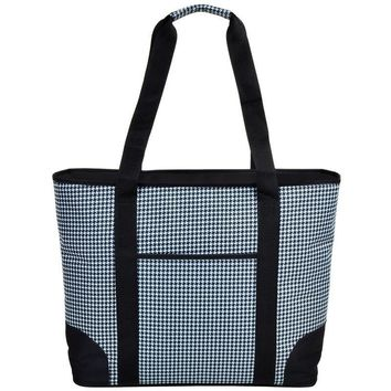 Extra Large Insulated Cooler Tote | Houndsteeth