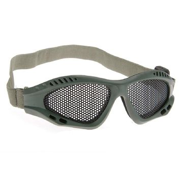 Metal Mesh Anti-Fog Goggles Glasses  Paintball Tactical Airsoft Eye Protective Safety Goggles For Hunting Shooting tactical