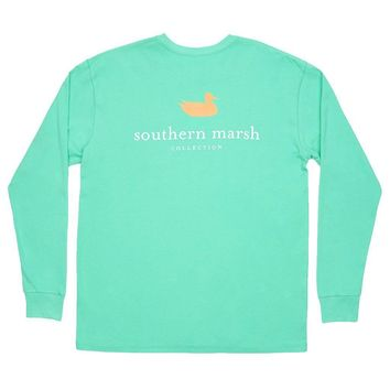 Authentic Long Sleeve Tee in Bimini Green by Southern Marsh - FINAL SALE
