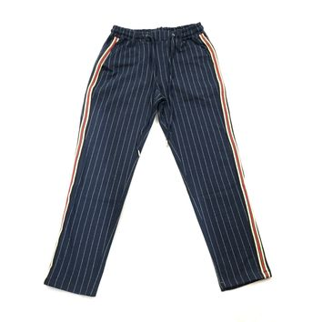 Good Evening Track Pant - Navy Stripe