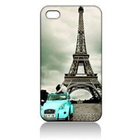 Eiffel Tower Paris Hard Case Skin for Iphone 4 4s Iphone4 At&t Sprint Verizon Retail Packing.