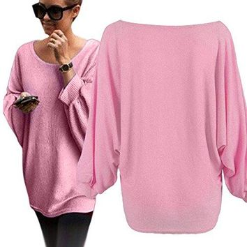 Women Oversized Batwing Knitted Pullover ❤Luca ❤ Loose Sweater