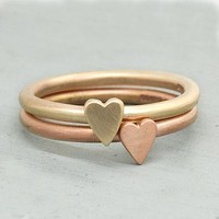 Handmade Solid Gold Heart Ring