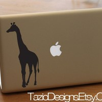 Giraffe  Apple Macbook Decal Car Vinyl Wall Art by TazioDesigns