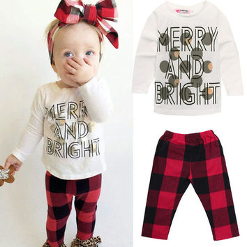 New 3 6 9 12 18 24 Monthes Newborn Baby Girls Boys Toddler Kids T-shirt Tops + Pants Trousers Outfit Clothes Suit Cute Fashion