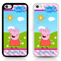 Peppa Pig Cartoon Muddy Puddles Personalized CASE COVER for iPhone iPod Samsung