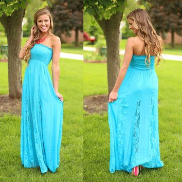 Teal The Show Maxi Dress