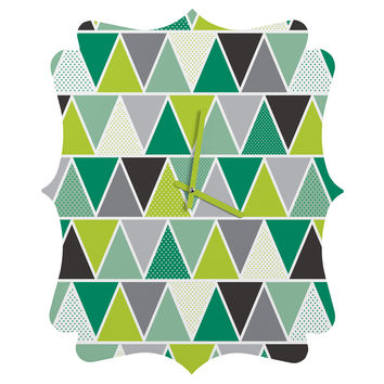 Heather Dutton Emerald Triangulum Quatrefoil Clock