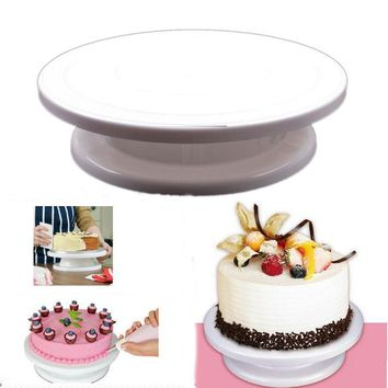 1pc/lot Revolving Cake Sugarcraft Turntable cake swivel plate Decoration Stand Platform turntable Baking tools YL870264