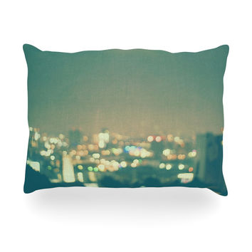 "Myan Soffia ""Anniversary"" City Lights Oblong Pillow"