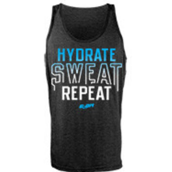 Hydrate Sweat Repeat men's workout tank tops from G2OH