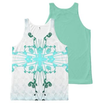 Flower Cross All-Over Print Tank Top