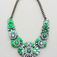 Palace of Emeralds Statement Necklace