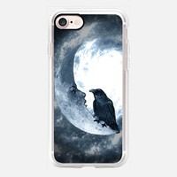 The crow and its Moon (BCN ART version) iPhone 7 Case by Barruf | Casetify