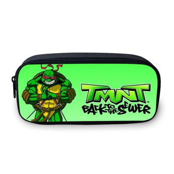 VEEVANV Fashion Mutant Ninja Turtles Boys School Pencil Case Super Hero Teenage Makeup Pouch Girls Cosmetic Bag Children Pen Bag