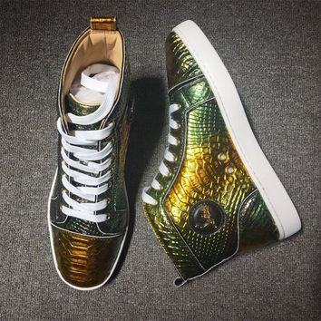 Christian Louboutin CL Python Style #2250 Sneakers Fashion Shoes Best Deal Online