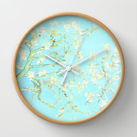 Almond Blossoms Vincent Van Gogh Wall Clock by PureVintageLove   Society6