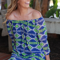Off the Shoulder Tribal Dress