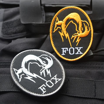 Black Metal Gear Solid MGS FOX HOUND Special Force Group Ghost Embroidered Patch