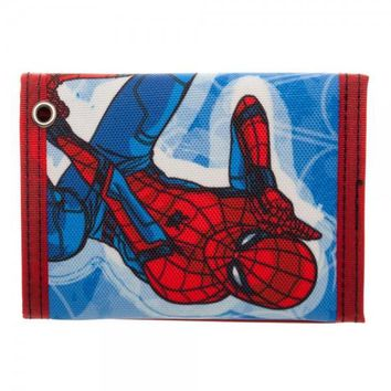 Spider-man Homecoming Tri-Fold Velcro Wallet with Rubber Patch