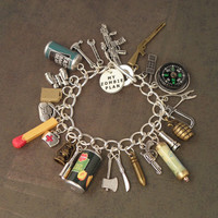 I've Got A ZOMBIE PLAN Charm Bracelet For The Zombie Apocalypse