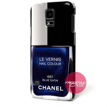 CHANEL Nail Polish Vernis Blue Inspired Samsung Galaxy Case Cover Series