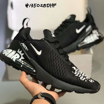 Nike AIR MAX FLYKNIT 270 Fashion Doodle Summer Cushion F-CSXY black