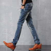 Denim Pants Men Stretch Slim Jeans [6528728067]