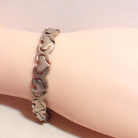 Sterling Heart Link Bracelet 925 Romantic Valentines Day Jewelry Fashion Accessories For Her