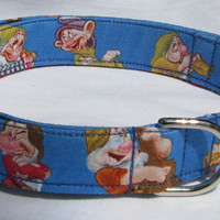 Seven Dwarfs Snow White Dog Collar Size XS, S, M, L