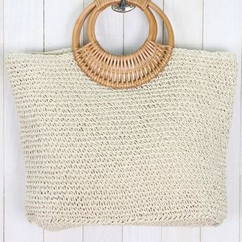 Arm Candy Natural Straw Handbag - Simply Me Boutique – Simply Me Boutique