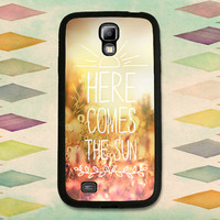 Here Comes The Sun Typography Case. Choose Samsung Galaxy S3, S4 or S5!