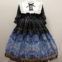 Luminous Sanctuary One Piece - Black [152PO11-030036-bk] - $302.00 : Angelic Pretty USA