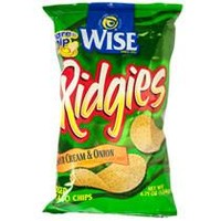 WISE RIDGES SOUR CREAM & ONION POTATO CHIPS