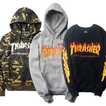 Thrasher Sweatshirt Men's Sweat Homme Very Fashion Winter Style Sportswear Sweatshirt Men Hip Hop Thrasher Sweatshirt