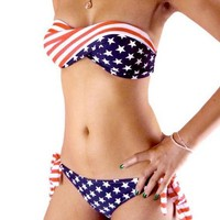 tourtown — Vintage flag bikini
