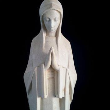 Art Deco Blessed Virgin Mary Statue
