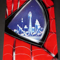 spiderman spray paint art,spiderman decor,spiderman gifts,boys room decor,superhero gifts,spiderman poster,spiderman painting,new york,eye