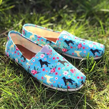 Labrador Retriever Flower Casual Shoes-Clearance