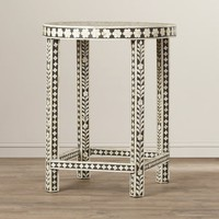 Brock Bone Inlay End Table