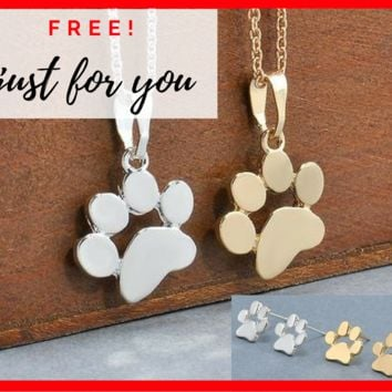 FREE Dog Paw Fashion Jewelry Gift Set