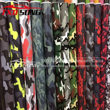 Premium quality Large Digital Woodland Green Camouflage Vinyl Film Sticker Wrap Decal Army Camouflage vinyl BY Free Shipping
