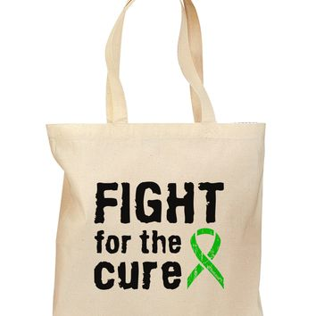 Fight for the Cure - Lime Green Ribbon Lyme Disease Grocery Tote Bag