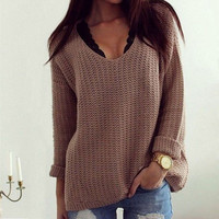 [BIG SALE] Casual Womens Long Sleeve Knitwear Jumper Cardigan Coat Jacket Sweater Pullover Gift