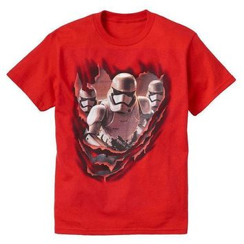 Star Wars: Episode Vii The Force Awakens Stormtroopers Tee   Boys 8 20 Size: