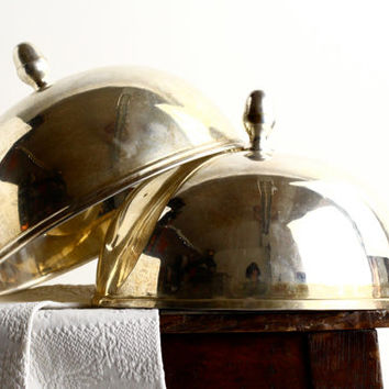 1 Vintage French Silverplate Serving Dome or Cloche - Hotel Silverware