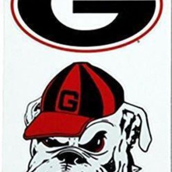 DCCKG8Q NCAA Georgia Bulldog Head Repositional Decal Multi-Pack